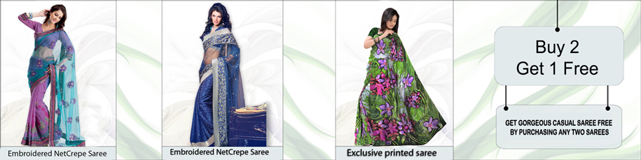 Buy Any 2 Sarees and Get 1 Free