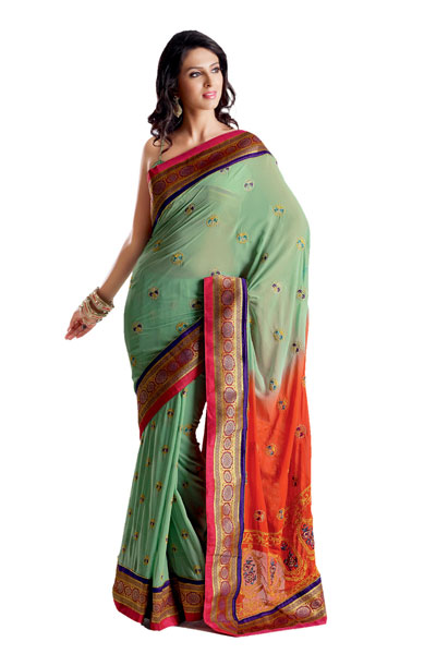 Bollywood Designer Fancy  Embroidered Saree