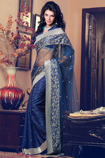 Designer Saree,Embroidered Saree,Fancy Saree,Saree With Blouse ,Net Saree