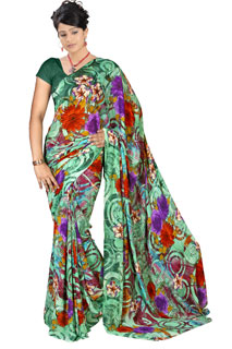 Festival Casual Multicolor Combination Exclusive Printed saree