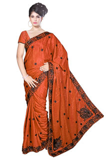 LOVE_R  Sequince work Embroidered Crepe Jaquared Festival Saree