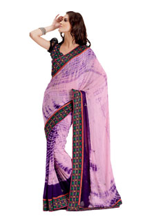 Indian Designer Fancy Festival Embroidered Saree