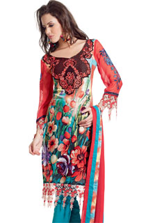Designer Dress With Embroidered Work