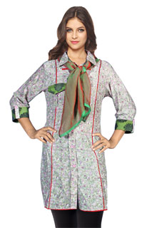 Bollywood Floral Print Deisgner Printed Cotton Kurti