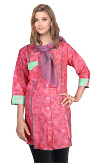 Charming Floral Print Designer Printed Cotton  Tunic
