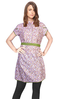 Fancy Small Floral Print Deisgner Printed Cotton Kurti